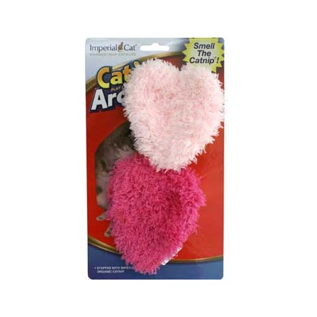 Cat 'n Around Toys (on Hang Card) Fuzzy Heart Duo