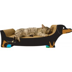 Imperial Cat Black Dachshund Scratch 'n Shape, Large