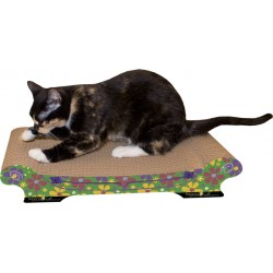 Imperial Cat Comfort Couch Scratch 'n Shape, Retro Green Floral