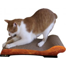 Imperial Cat Chaise Scratch 'n Shape, Orange Watercolor