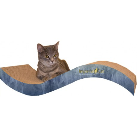 Imperial Cat Purrfect Stretch Scratch 'n Shape, Medium, Blue Watercolor