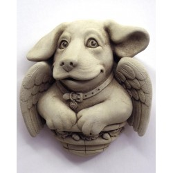 Cherub Puppy Plaque