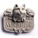Gothic Cat Welcome Plaque