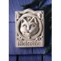Welcome Cat Plaque