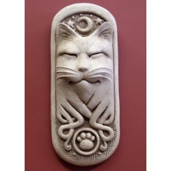 Midnight Celtic Cat Plaque