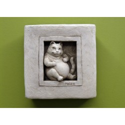 Purrfectly Relaxed Plaque