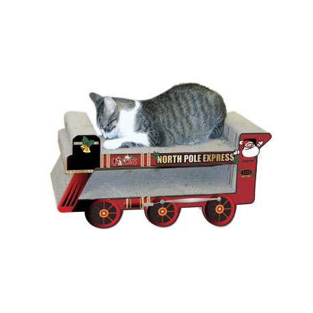 Kitties love to scratch and lounge on the Kitty Express!