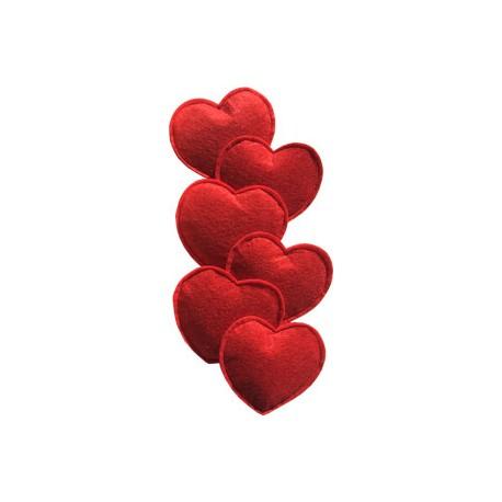 Imperial Cat Felt Heart Catnip Toy, Set of 6