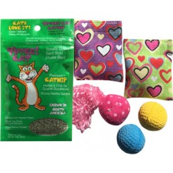 Imperial Cat Heart Pillow Catnip Toy Gift Bag