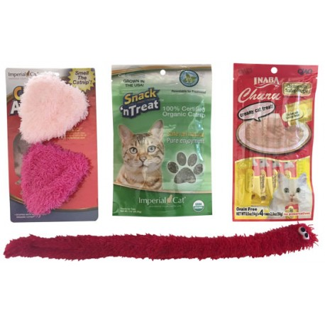 Imperial Cat Valentine Toy Gift Bag, Fuzzy Hearts