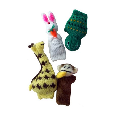 Assorted yarn animals.