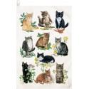 Mixed Kittens Kitchen Towel