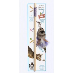 Cat Lure Wand, Feather Mouse