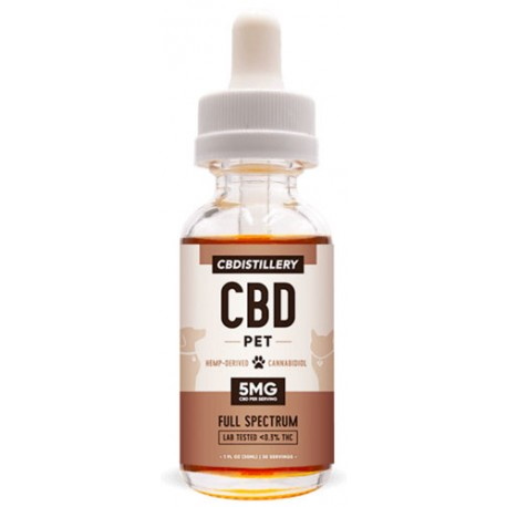 CBDistillery Pet Tincture Oil For Cats and Dogs 150mg