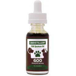 CBDistillery Pet Tincture Oil for Cats & Dogs - 600 mg (20MG CBD per serving)