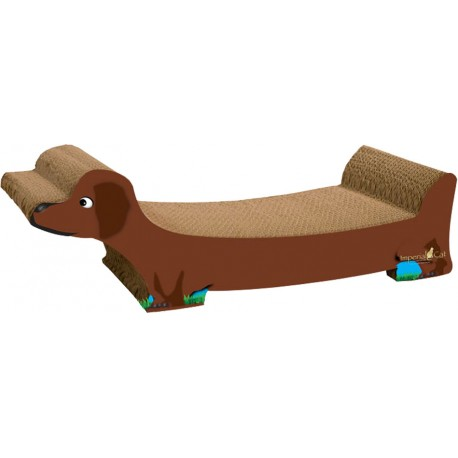 Imperial Cat Brown Dachshund Scratch 'n Shape, Large