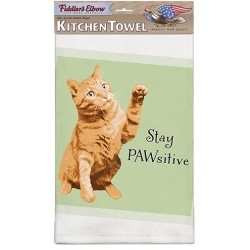 Stay PAWsitive Kitchen Towel