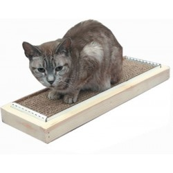 Single Wood Tray Cat Scratcher Combo