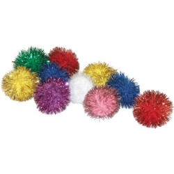 Soft and twinkley balls that your kitty will love!