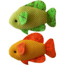 Neon Fish Refillable Catnip Cat Toys, set of 2