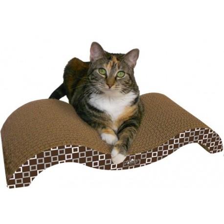 Curved contoured cardboard cat scratcher for Curved cat scratcher
