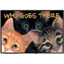 Who Goes There Door Mat