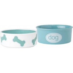 Kool Dog Bowl Set, Turquoise