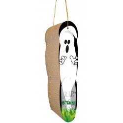 Boo! This spooky scratcher is purrfect for Halloween!