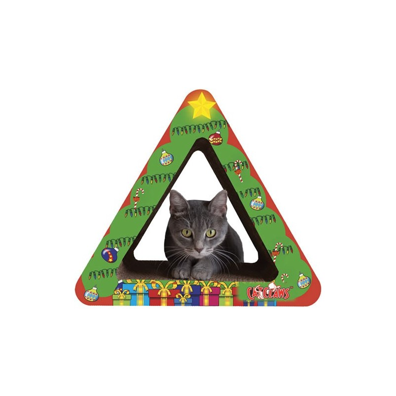christmas tree cardboard scratcher for cats