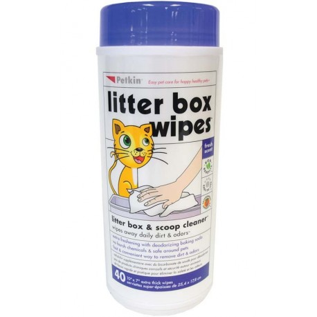 Easy to use wipes for litter boxes and scoops