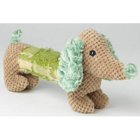 This cute lil Dachshund toy features a sqeaker that your dog will love!