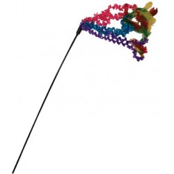 The brightly-colored fabric and feathers make any cat ready to fiesta!