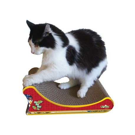 Your cat will feel like they're on a sleigh ride through a winter wonderland with this scratcher!