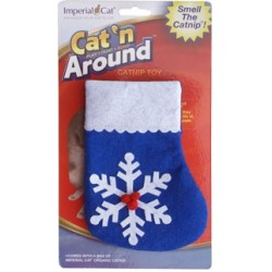 Snowflake Stocking Refillable Catnip Toy