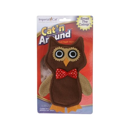 This little owl can be refilled with catnip!