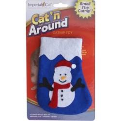 Snowman Stocking Refillable Catnip Toy