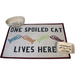 Spoiled Cat Bowls and Placemat Set