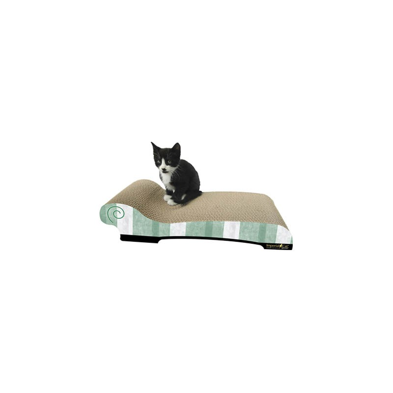 Max chaise lounge cardboard scratcher for cats for Chaise lounge cat scratcher
