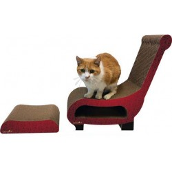 M.A.X. Club Chair Cat Scratcher with Scratching Ottoman