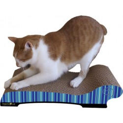 Imperial Cat Chaise Scratch and Shape, Blue Stripe