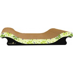 Imperial Cat Scoop Scratch and Shape, Retro Lime Floral