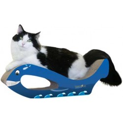 Imperial Cat Whale Scratch 'n Shape, Blue, Large