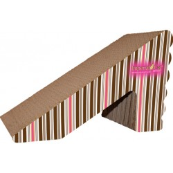 Imperial Cat Rub 'n Ramp Scratch 'n Shape, Pink and Brown Stripe