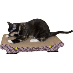 Imperial Cat Comfort Couch Scratch 'n Shape, Purple Paisley