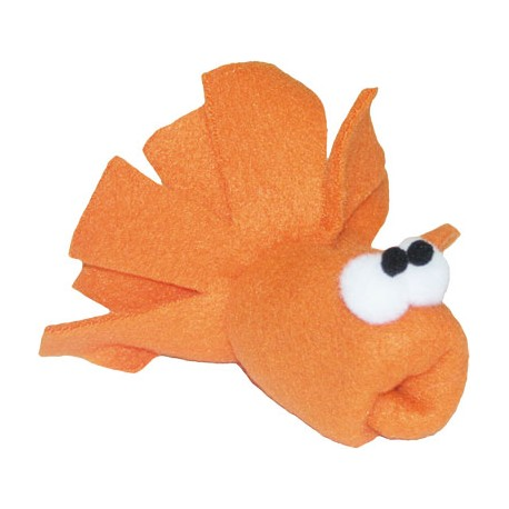Imperial Cat Cat 'n Around, Goldie Goldfish Organic Catnip Toy