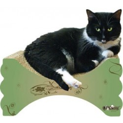 Curved surface of this scratcher is great for lounging!