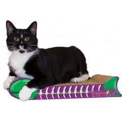 Imperial Cat Fish Bone Scratch 'n Shape, Purple and Green