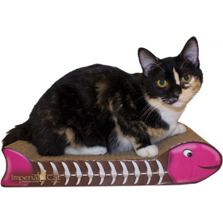 Imperial Cat Fish Bone Scratch and Shape, Pink and Brown