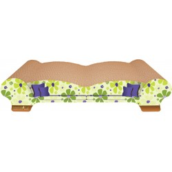 Imperial Cat Love Seat Scratch 'n Shape, Retro Lime Floral