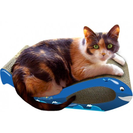 Imperial Cat Whale Scratch and Shape, Blue, Small